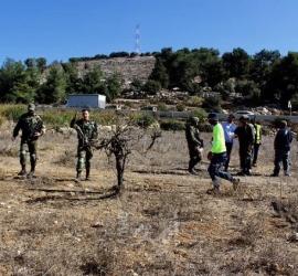 قوات الاحتلال تستولي على 193 دونمًا شرق رام الله
