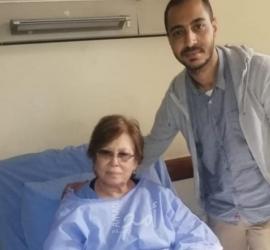 """وفد من الديمقراطية يزور الفنانة """"لطيفه يوسف"""" في مستشفى فلسطين بالقاهرة"""
