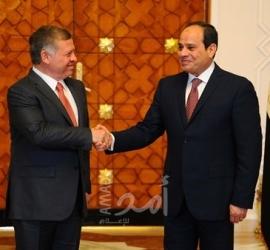 الرئيس المصري يوجه التهنئة لملك الأردن بمناسبة مئوية تأسيس المملكة الأردنية