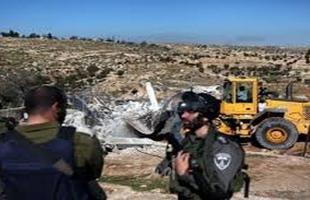 جيش الاحتلال يستولي على جرافة جنوب نابلس