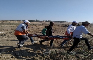 """محدث2 بالفيديو والصور.. إصابات برصاص جيش الاحتلال في جمعة """"مجزرة واد الحمص"""" بقطاع غزة"""