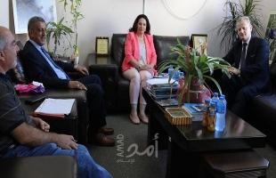 الأتيرة تستقبل السفير البولندي لدى فلسطين في رام الله