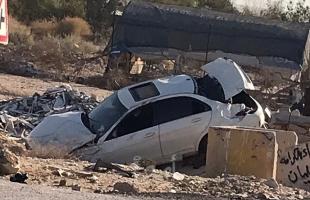 إصابات بإنقلاب سيارة بحادث سير في أريحا