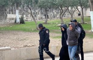 صور .. القدس: شرطة الاحتلال تعتقل فتاه و 4 شبان فلسطينيين