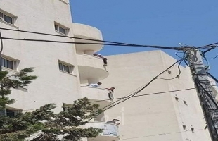 محاولة انتحار شاب بإلقاء نفسه من شرفة مبنى وزارة العمل في غزة