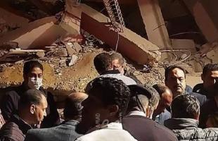 محدث - 15 حالة وفاة في انهيار بناء من 10 طوابق بمنطقة جسر السويس بالقاهرة - صور