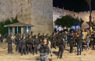 تجدد المواجهات مع شرطة الاحتلال في باب العامود بالقدس المحتلة - فيديو
