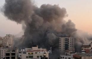 في تطور خطير.. طائرات جيش الاحتلال تقصف برج هنادي غرب مدينة غزة - فيديو