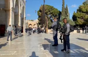 بعد وقفهم إسبوعين..القدس: عشرات المستوطنين يقتحمون الأقصى - فيديو