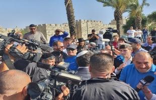 اعتقالات عدد من المواطنين خلال اقتحام الإرهابي بن غفير منطقة باب العامود بالقدس - فيديو