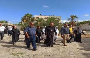 وزارة السياحة يستقبل بطريرك اللاتين للأراضي المقدسة في الكنيسة البيزنطية
