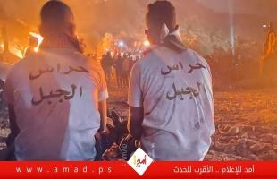 """نابلس: بدء فعاليات """"الإرباك الليلي"""" على جبل صبيح.. ومواجهات مع قوات الاحتلال"""