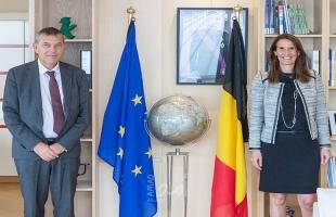 المفوض العام للأونروا فيليب لازاريني يقوم بزيارة بلجيكا
