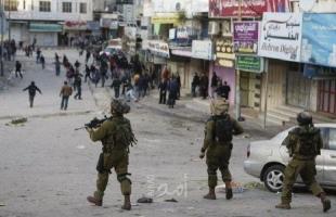 مواجهات مع قوات الاحتلال في باب الزاوية وسط الخليل