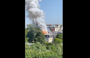 """حريق وسط العاصمة الفرنسية """"باريس"""""""