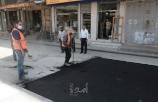 بلدية غزة تشرع بتعبيد امتداد شارع الجزائر خلف الجامعة الإسلامية