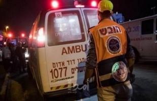 إصابة (4) اشخاص بينهم واحدة خطيرة جرّاء حادث طرق قرب القدس
