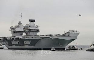 """حاملة الطائرات البريطانية """"الملكة إليزابيث"""" تتوقف في اليابان ضمن التعاون المشترك"""