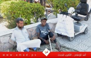 تقرير: في اعتصامهم المفتوح .. هذا ما يريده ذوي الحاجات الخاصة في غزة - فيديو
