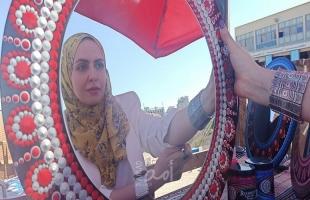 غزة: جنان العيلة فنانة بحثت في مواهبها فأبرزت فن الماندالا والدودل - صور