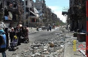 """""""العودة"""" يطالب الأمم المتحدة بالضغط لإعادة إعمار """"اليرموك"""""""