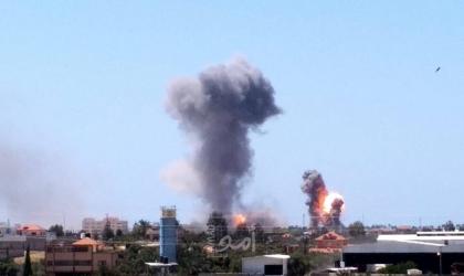 """محدث _ طائرات الاحتلال تستهدف """"مجمع عسكري"""" في قطاع غزة"""