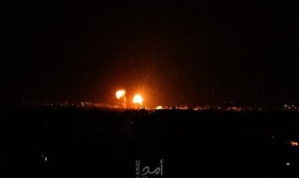 طائرات الاحتلال تستهدف موقع عسكري غرب غزة