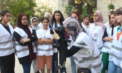 إطلاق مخيم صحافيات صغيرات التاسع في طوباس