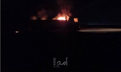 استهداف مركبات للحشد الشعبي على الحدود العراقية السورية - صور