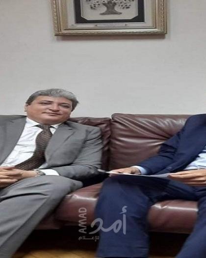 المصري يلتقي الأمين العام للمنظمة العربية لحقوق الإنسان علاء شلبي في القاهرة