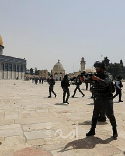 مستوطنون يقتحمون الأقصى بحراسة من شرطة الاحتلال