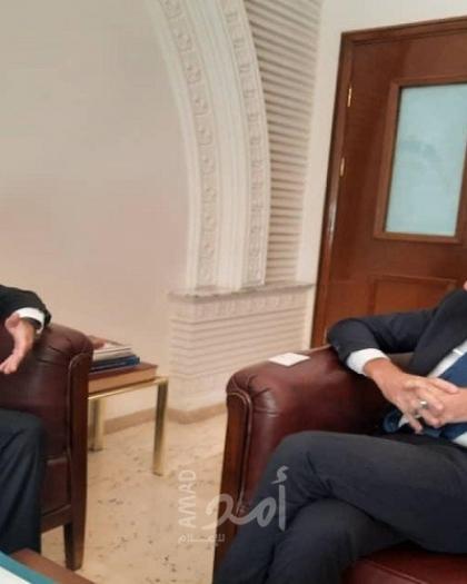 عبد الهادي يبحث مع السفير الإيطالي في سوريا آخر مستجدات القضية الفلسطينية